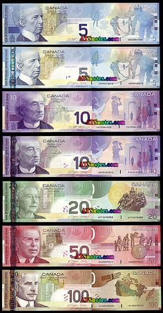 2001-5 Canada banknotes - Canada paper money catalog and Canadian currency history