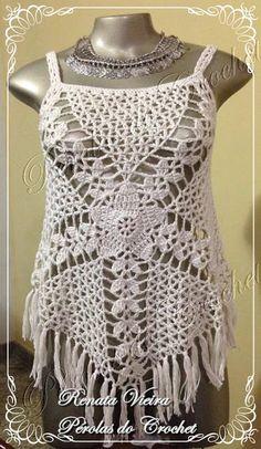 * Pérolas do Crochet: Blusa em crochet modelo Gypsy com PAP                                                                                                                                                                                 More