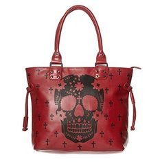 Oferta: 38.99€. Comprar Ofertas de Banned Apparel - Bolso al hombro de piel sintética para mujer rojo Red barato. ¡Mira las ofertas!
