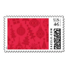 Christmas Ornaments Postage Stamps #Christmas #Ornaments #PostageStamps