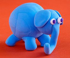 Made from nothing more than clay, this faithful elephant is sure to capture your child's heart and imagination.                 Make It: Have your child roll the following from Crayola Model Magic or basic clay: a large ball for the elephant's body, a medium ball for the head, two small balls for the ears, two smaller balls for the eyes, and two tiny balls for the center of the eyes. Assemble as shown, flattening the ears before attaching to the head.                 Roll a long snake-shape…