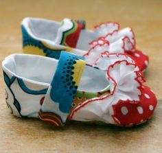 Baby Girl Shoes Colorful and Frilly