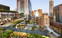 Grimshaw Unveils Sustainable Glass Office Building in the Heart of Sydney,Roof Terrace View. Image Courtesy of Grimshaw Architects and Crone Partners