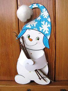 Hamarosan itt a tél! – készítsünk hóembert - New Ideas Christmas Cards Drawing, Christmas Paper, Christmas Crafts For Kids, Xmas Crafts, Christmas Deco, Winter Christmas, Winter Kids, Winter Art, Winter Theme