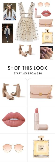"""""""NUDE PARTY"""" by reka15 on Polyvore featuring Venus, Cole Haan, Lime Crime, Lipstick Queen and Brinley Co"""