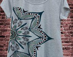 T Shirt Mescla Mandala Frete Gratis
