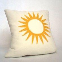 simple sun pillow