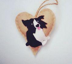 Border Collie gift / Handmade Border Collie gift by Heartfeltidea