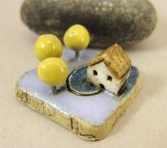 MyLand - The Night of Three Moons - Collectible 3x3 cm or 1.2x1.2 in. puzzle in stoneware by elukka on Etsy https://www.etsy.com/listing/191633424/myland-the-night-of-three-moons