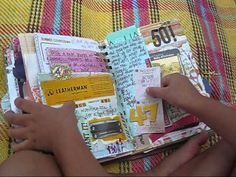 My finished summer scrap/junk/smash journal.    got be my favorite YouTube smash video so far!  great book!!