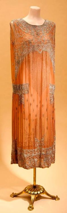 1920's tangerine dress by michele