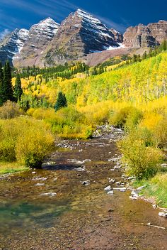 Maroon Bells and Maroon Creek, White River National Forest, Colorado | Andy Cook, RMRP
