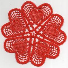 Valentines Day Hearts, Bobbin Lace, Crochet Basics, Chrochet, Doilies, Crochet Earrings, Farmhouse Rugs, Mariana, Lace