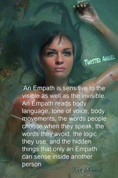 I called that intuitive oversensitiveness, not always easy to deal with. Now the word empath sounds like it's a quality! Infp, Introvert, Empath Abilities, Psychic Abilities, Psychic Powers, Highly Sensitive Person, Sensitive People, Reiki, Intuitive Empath