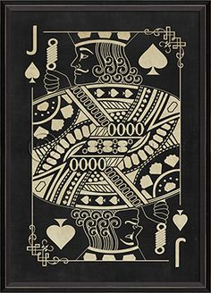BC Jack of Spades White on Black great scratchboard idea, maybe photograph the students in profile and give them props like a mustache or crown.