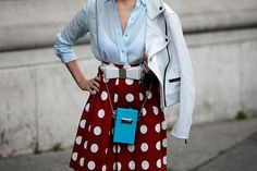 Paris Fashion Week, Fall/Winter 2014-2015 - outfit - streetstyle - pois