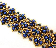 beaded cuff patterns | Tutorial Bracelet Perpetua with Twin beads