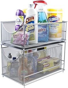 sorbus cabinet organizer set u2014mesh storage organizer with pull out for countertop