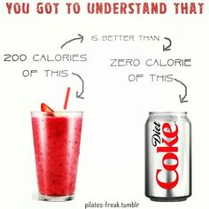 This is so true...calories do not define food! Count nutrients instead! #health #fitness #calories #smoothie #lifestyle