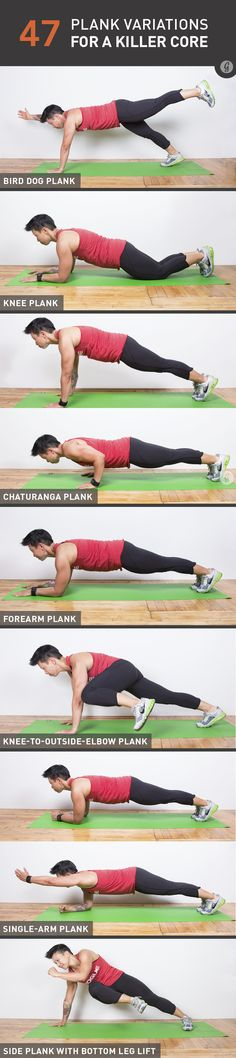 It's time to kiss those crunches good-bye. With nearly 50 ways to challenge your core and midline stability, you won't need 'em!   http://greatist.com/move/plank-variations-for-core-strength