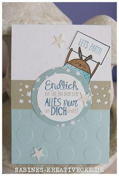 Cheerful Critters, Geburtstagskarte, Sternenkonfetti, Sale a bration
