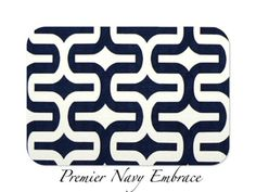Decorative Throw Pillow Cover Home Decor by FestiveHomeDeco Premier Navy Embrace Premier Prints, $18.00