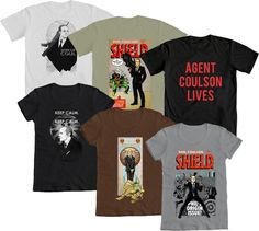 Awesome Agent Coulson shirts from WeLoveFine, $25 each. Love the Keep Calm one the most.