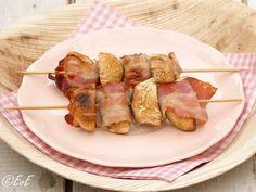 2X SPIESJES VOOR OP DE BBQ   Eten van Eefke Cobb Bbq, Green Eggs, Outdoor Cooking, Barbecue, Sausage, Grilling, Veggies, Snacks, Meat