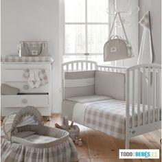Colcha Bebe gris + Protector de cuna Bebe Gris de Cambrass