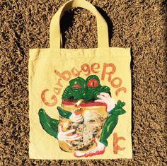 Drunken Frog holding Sneak Sake bag dyed yellow  got Idea from Costa Rica T-shirt