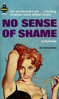 'No Sense Of Shame' - pulp fiction cover art, 1963.