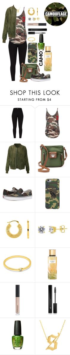 """""""camo"""" by skylovessave ❤ liked on Polyvore featuring Sans Souci, Rosetti, Vans, BERRICLE, Victoria's Secret, Bare Escentuals, Forever 21 and Eklexic"""