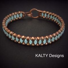 Wire weave bangle by KALTY Designs More