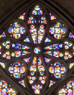 The South Transept Window of the Cologne Cathedral was recreated by Gerhart Richter in 2007 after the original window was destroyed in WWII and replaced with plain glass. This Gothic Cathedral has been a UNESCO World Heritage site since 1996. #Cologne_Cathedral #Gerhar_Richter