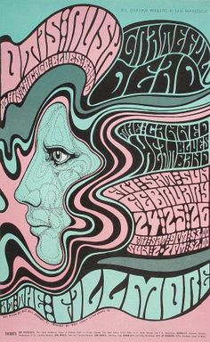 Bill Graham, concert promoter for the Fillmore Auditorium in San Francisco, commissioned the following concert posters from Wes Wilson between 1966 and 1968.  Having recently married his second...