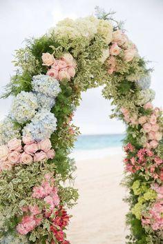 Hydranga Arbor for Beach Wedding - Planning & design: Easton Events