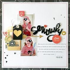 Another layout I created for the current issue of Jot Magazine. That funny pirate face in the top photo makes me laugh every time! #jotmagazine #scrapbooking #jotgirl