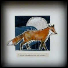 ... Foxy... Loopy. | Free Motion Embroidery, Thread Sketching