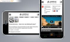 Leopold Museum im responsive Web Web Design, Museum, Responsive Web, Smartphone, Projects, Design Web, Website Designs, Museums, Site Design