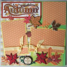Two 12x12 Premade Autumn Scrapbook Pages | eBay