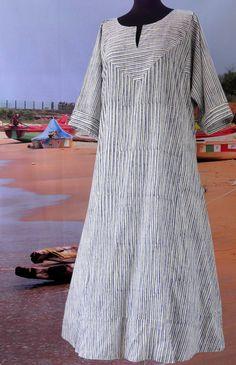 Stripe Tunic V-Neckline Maxi Shift, Dress African Attire, African Wear, African Dress, African Fashion, Floryday Vestidos, African Traditional Dresses, Queen Fashion, Abaya Fashion, Long Dresses