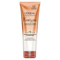L'Oreal Paris Eversleek Repair Smoothing Conditioner (orange bottle is preferable -- smoothing)