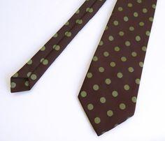 Vintage jaren 1970 breed chocoladebruin w / door LeuraVintageOnline