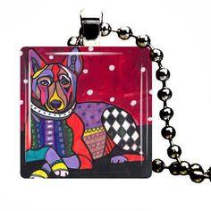 CLEARANCE-  Basenji Art Jewelry Necklace Pendant Print Handmade