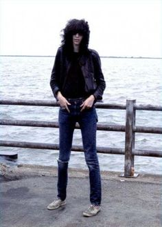 Joey Ramone - My wonderful late wife Theres met him once while she was working in a 7-11. He came in for a 6-pack. She said she could hardly get any intelligible words out but he was nice about her clumsiness.