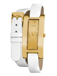 White + Gold - Class & sophistication while staying on trend - Women's Gold Tone Wrap Watch  is the perfect fashion accessory $26