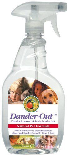Earth Friendly Products Natural Pet Dander Out - Dander Remover And Body Deodorizer, Spray Bottle (Pack of Pack of twelve, spray bottle (total of Eliminates dander and odor. Gentle, non-toxic and non-flammable. Dog Grooming Supplies, Pet Supplies, Pet Dander, Dog Care, Dog Stuff, Spray Bottle, Deodorant, Allergies, Dogs And Puppies