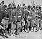 Detail  of Soldiers from 6th Maine Infantry on Parade after Fredricksburg  by Mathew Brady