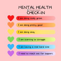 Mental Health Check In Mental Health Facts, Mental Health Activities, Mental Health Check, Mental Health Therapy, Mental Health Awareness Month, Mental Health Journal, Mental And Emotional Health, Mental Health Matters, Child Mental Health