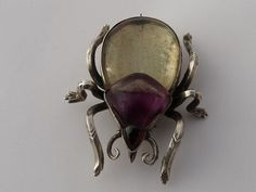 victorian rock crystal brooch